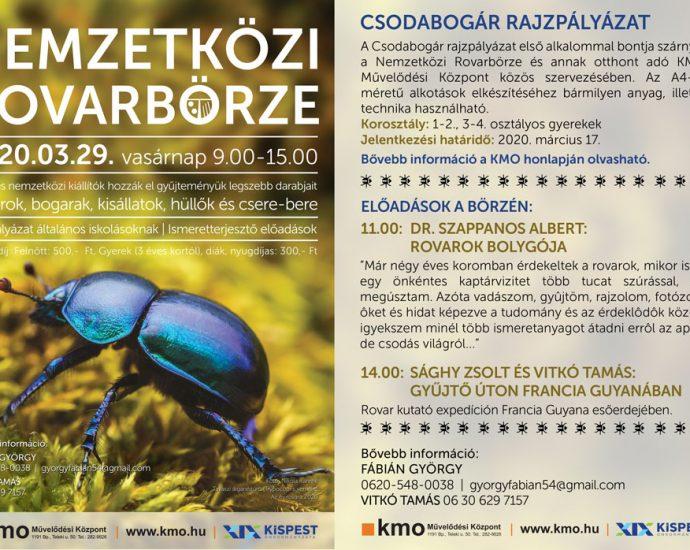 Nemzetközi rovarbörze 2020. tavasz
